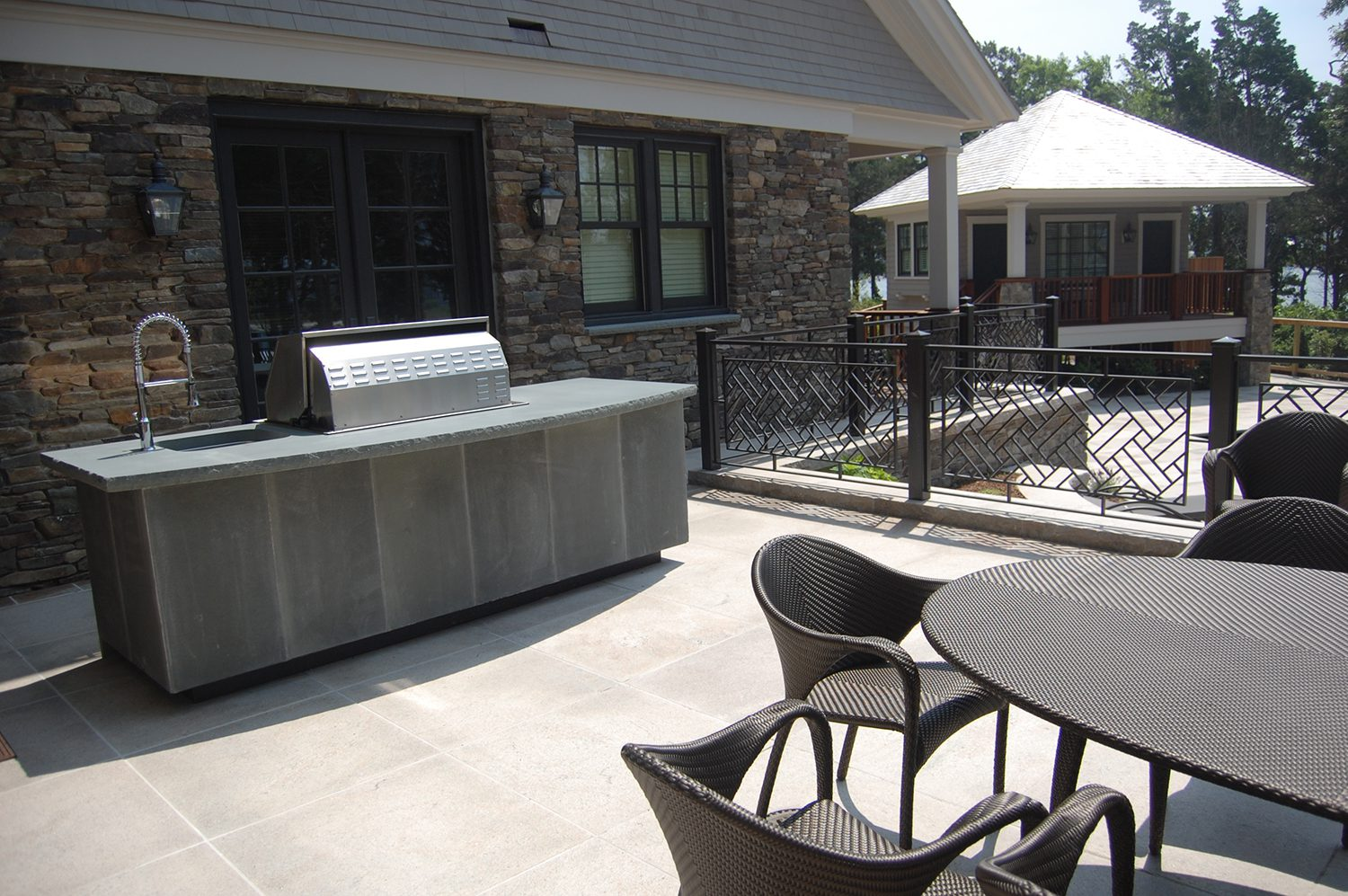 Portfolio DBLA Outdoor Cooking Patio Falmouth Landscape Architecture
