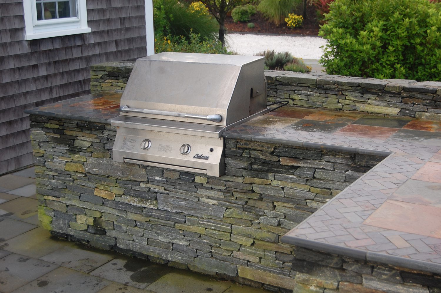 Portfolio DBLA Outdoor Cooking Patio Nantucket Greenleaf 2 Landscape Architecture